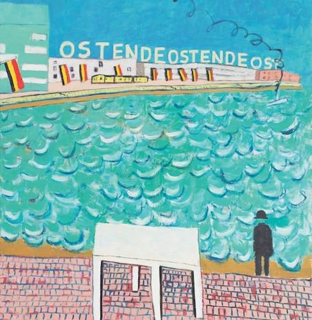 Ensore träumt von Magritte, Öl auf Leinwand, 185 x 280 cm, 2006