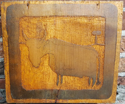 Cow with Mushroom Carving_ 2014