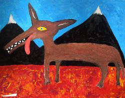 Coyote Pondering Tetons, 2008