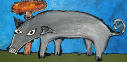 Pig w Mushroom Cloud