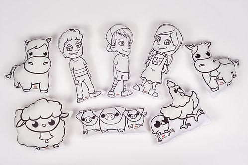 Kit almofadas para colorir - personagens