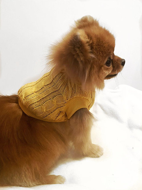 Вязаная жилетка желтая