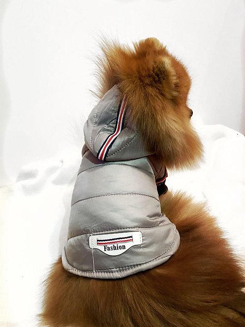 Куртка с капюшоном серая