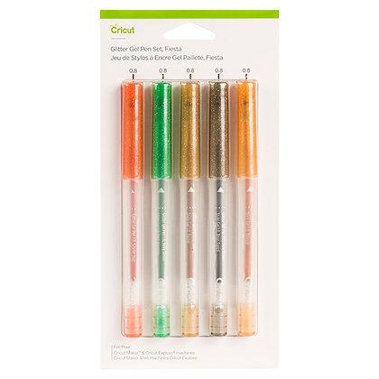 Glitter Gel Pen Set, Fiesta (5 ct)