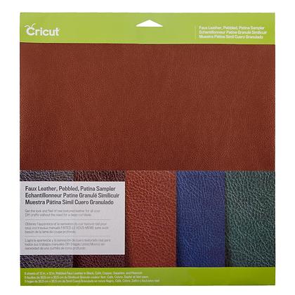 Cricut® Faux Leather - Pebbled, Patina Sampler