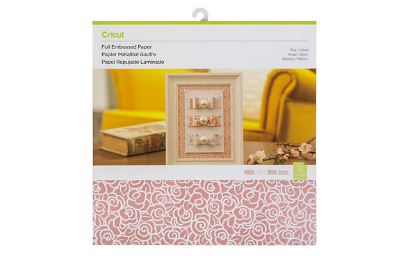 Deluxe Paper Foil Embossed, Pink/White