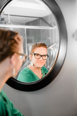custom bathroom mirror reflection Amanda George Interior Design