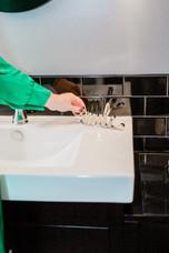 custom bathroom sink Amanda George Interior Design
