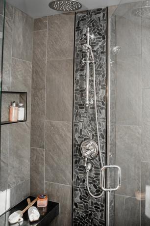 custom shower details Amanda George Interior Design