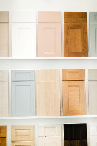 wood samples Amanda George Interior Design