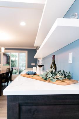 modern open cabinet style Amanda George Interior Design
