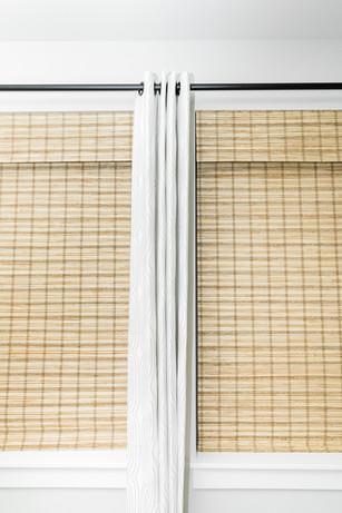 bamboo blind white curtains Amanda George Interior Design