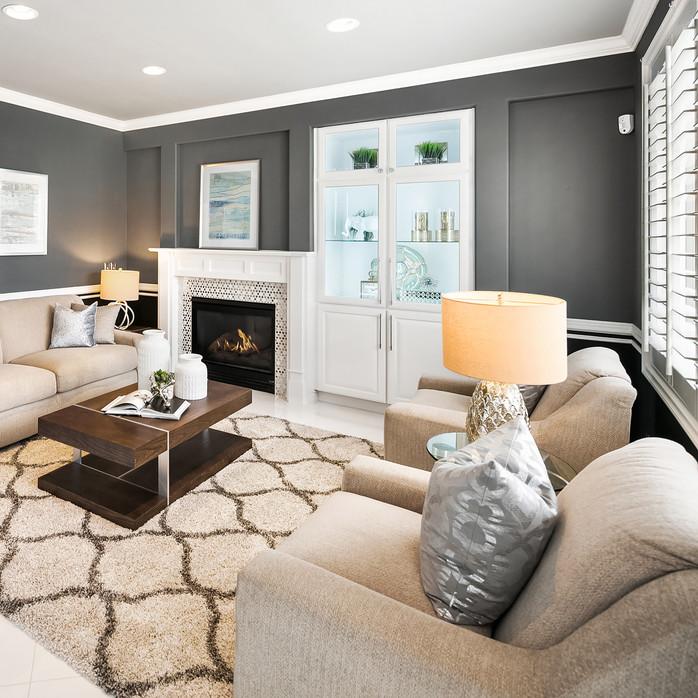 modern home grey and white Amanda George Interior Design