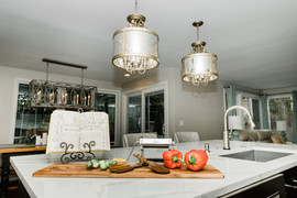 classic stunning kitchen remodel white and grey Amanda George Interior Design island