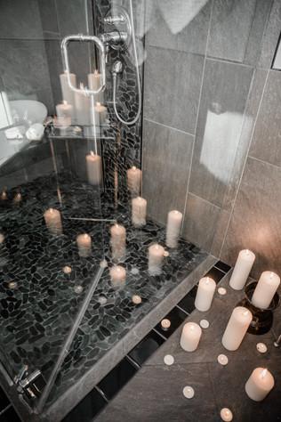 shower bathroom closeup Amanda George Interior Design