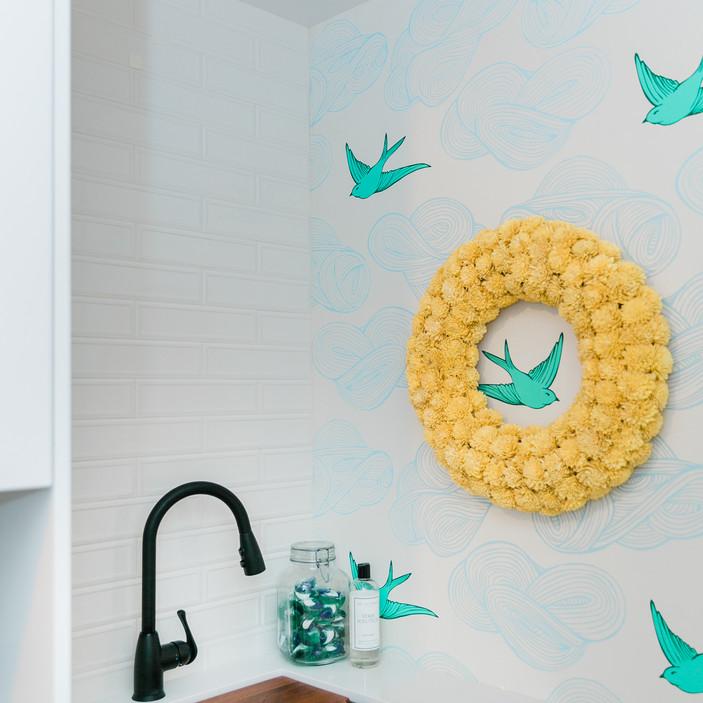 laundry room makover modern fresh Amanda George Interior Design