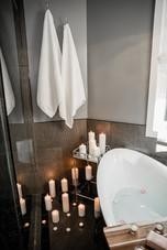 bath tub and shower hooks Amanda George Interior Design