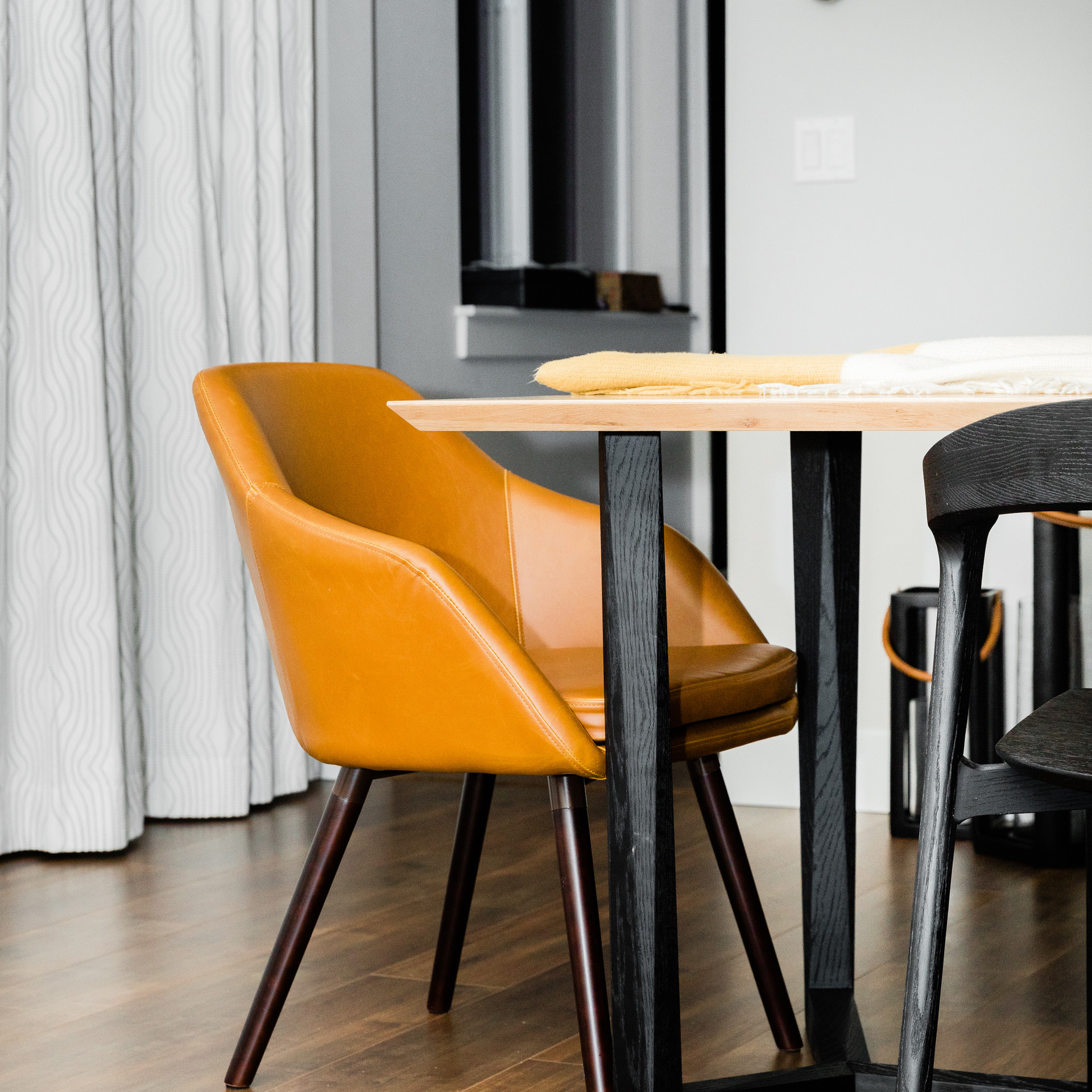 yellow modern chair Amanda George Interior Design