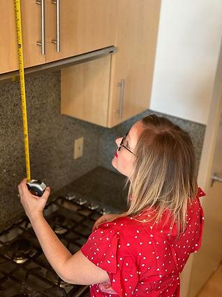 measuring cabinet space Amanda George Interior Design