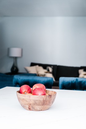 royal blue white modern kitchen remodel Amanda George Interior Design detail