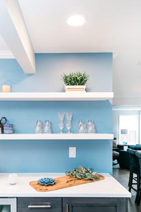 modern open cabinet white and blue Amanda George Interior Design