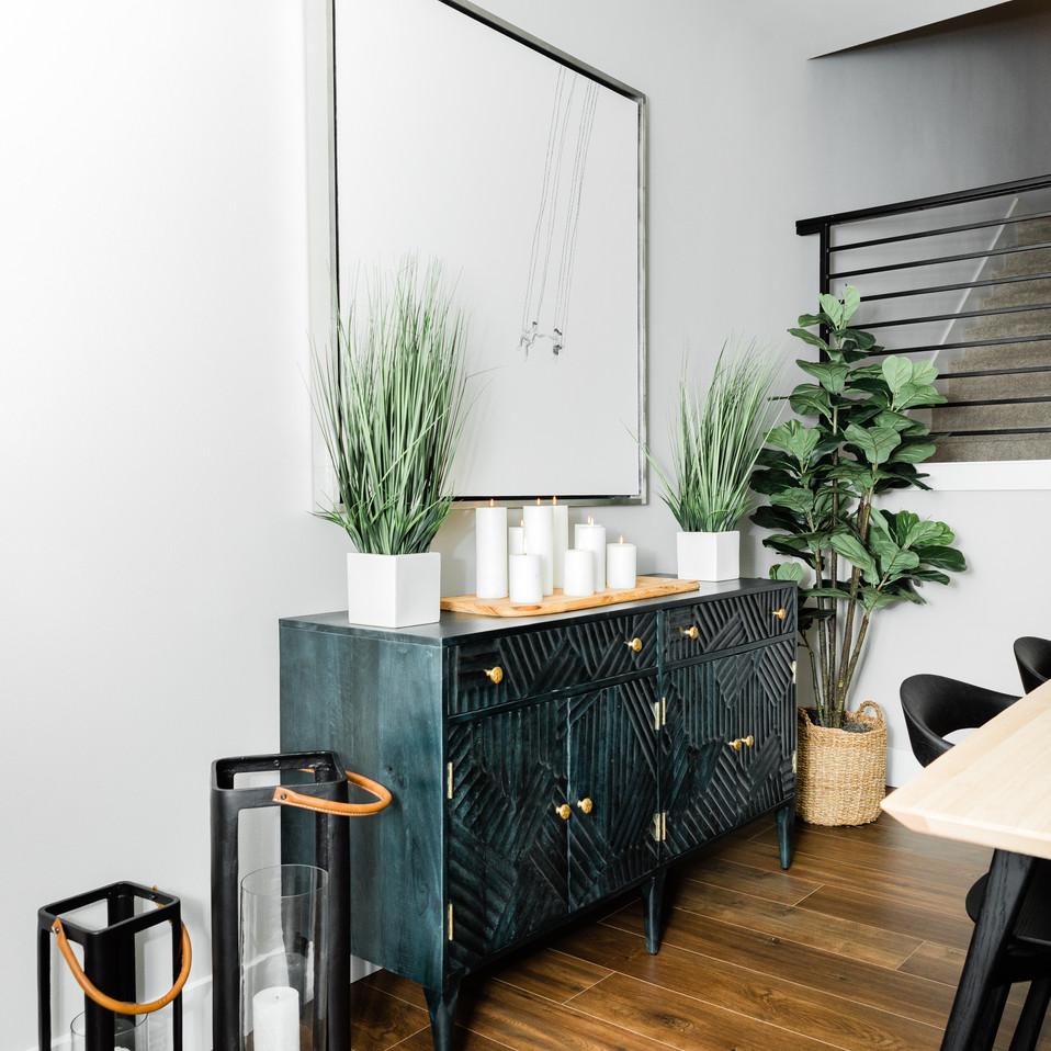 modern cabinetry dining room update Amanda George Interior Design