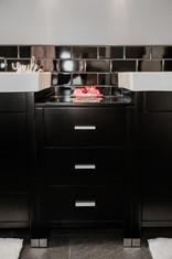 black cabinet details Amanda George Interior Design