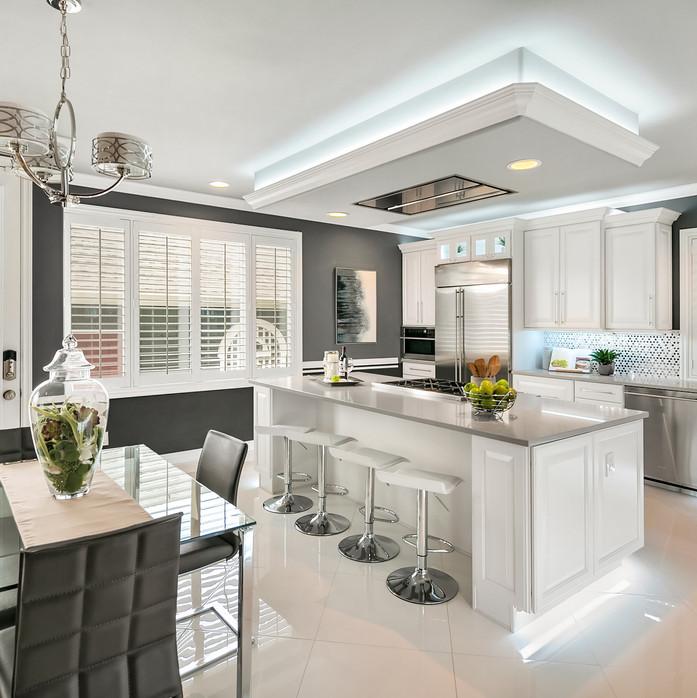 modern kitchen white grey Amanda George Interior Design