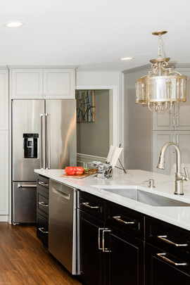 classic stunning kitchen remodel white and grey Amanda George Interior Design