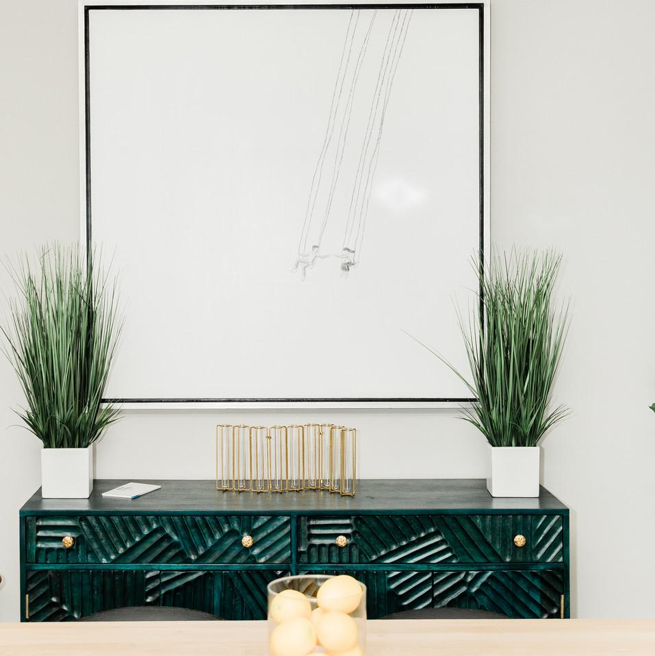 modern kitchen dining room update Amanda George Interior Design