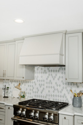 classic stunning kitchen remodel white and grey Amanda George Interior Design stovetop