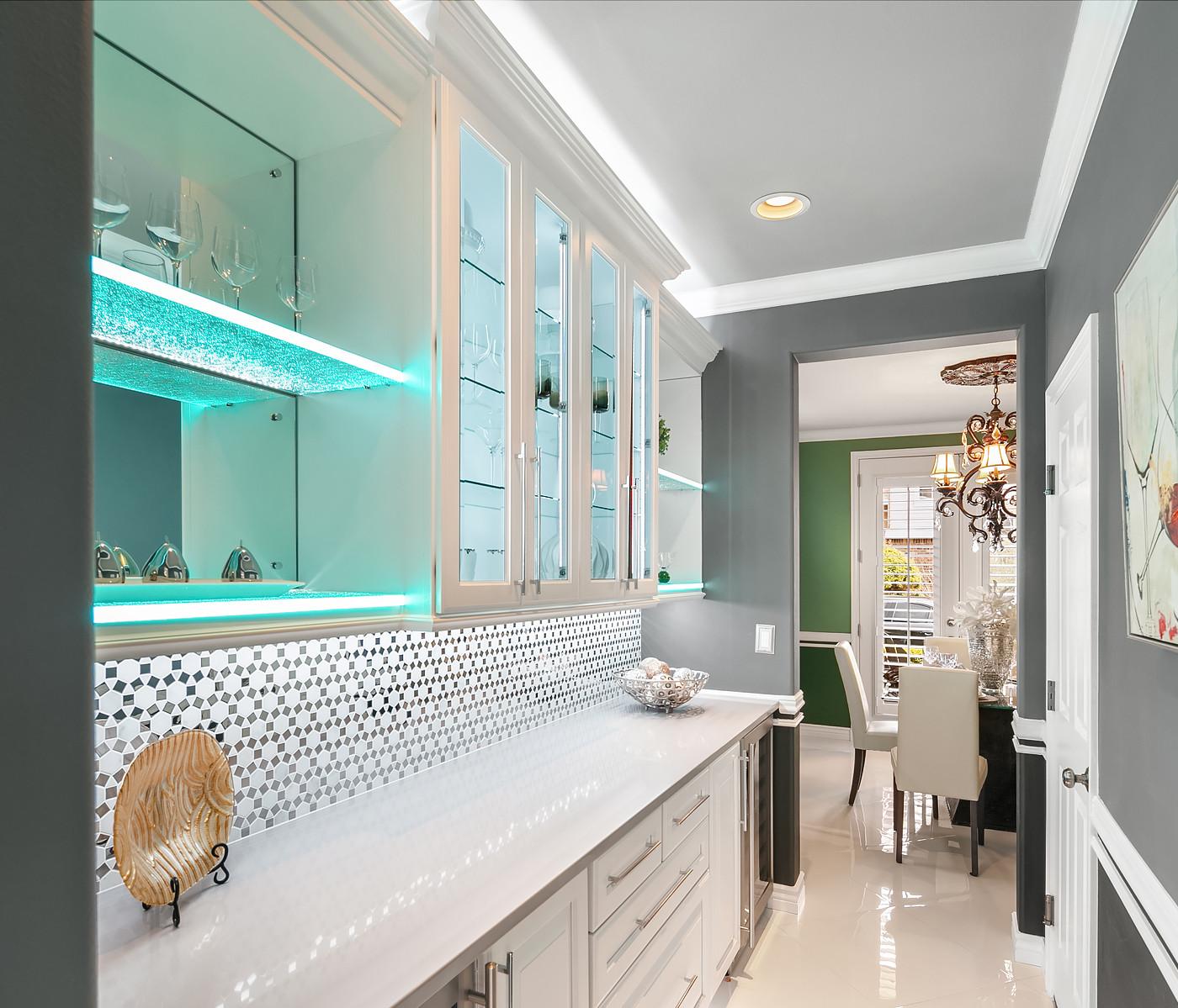 modern kitchen bar space Amanda George Interior Design