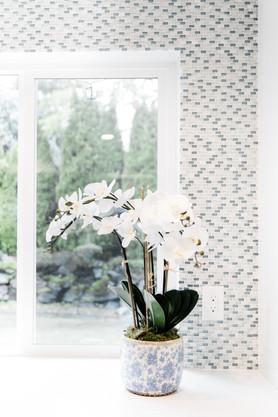 royal blue white modern kitchen remodel Amanda George Interior Design orchid