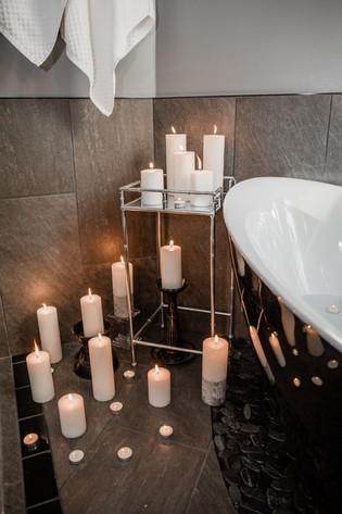 bath tub details candles Amanda George Interior Design