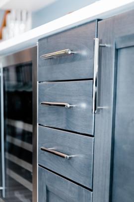 cusotm blue cabinetry remodel Amanda George Interior Design