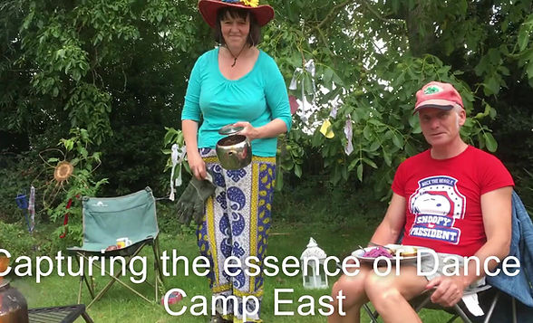 Welcome message for opening of dance camp east online.