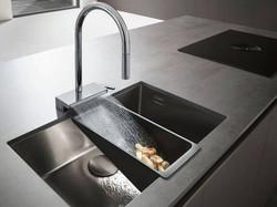 A lavish way to wash vegetables: