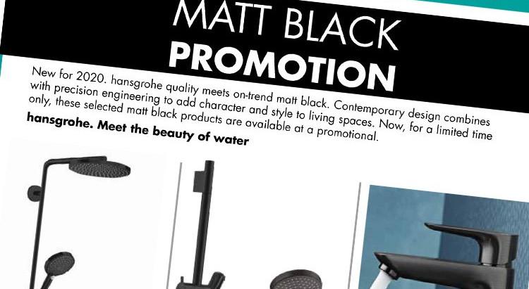Matt Black Fittings the new trend