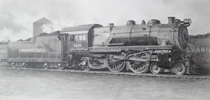 Pennsylvania Railroad team locomotive