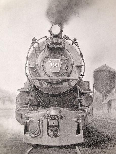 Pennsylvania Railroad (PRR) K-4 steam locomotive 1361 at Bay Head, New Jersey