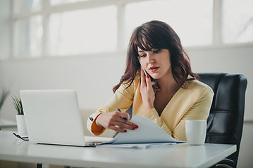 Woman on office using laptop
