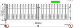 Modell Bonn Zaun gerade