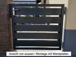 """Sichtschutz Modell  """"ALU-Tür"""" 1-flüglig"""