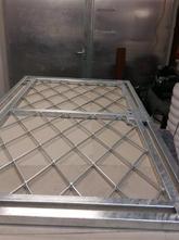 Gittertür Modell Raute Stahl verzinkt.jp