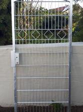 Tür Stabgitter Modell Karo mit Oberbogen