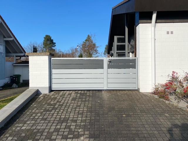 Gartentor Sichtschutz 2-farbig