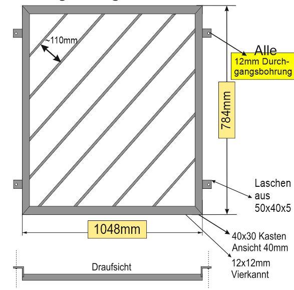 Modell Diagonalstab