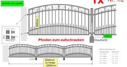 Modell Berlin Zaun Oberbogen