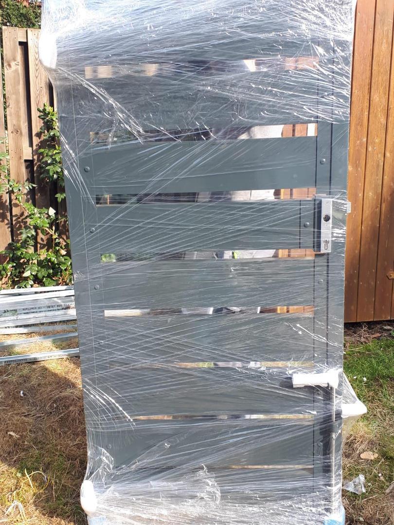 Gartentor Sichtschutz 2-flüglig Standflü