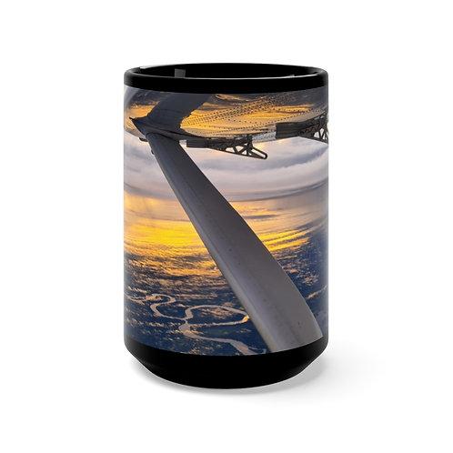 Sunrise Black Mug 15oz